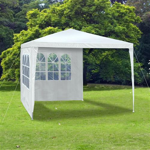 party zelt festzelt garten pavillon wei wasserdicht 3x3 m 4 seitenteile 110g ebay. Black Bedroom Furniture Sets. Home Design Ideas