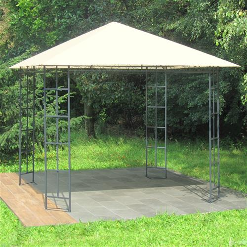 metall pavillon 3x3m creme gartenzelt gartenpavillon partyzelt pavillion. Black Bedroom Furniture Sets. Home Design Ideas