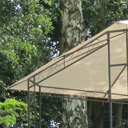 metall pavillon 3x3m creme gartenzelt gartenpavillon partyzelt pavillion ebay. Black Bedroom Furniture Sets. Home Design Ideas