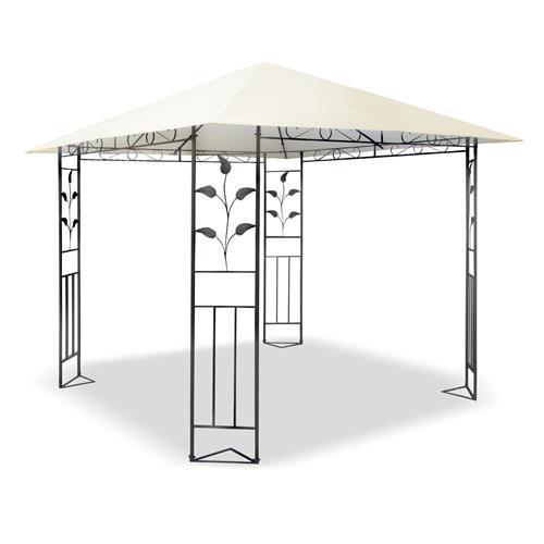 metall pavillon 3x3 m creme partyzelt gartenpavillon. Black Bedroom Furniture Sets. Home Design Ideas