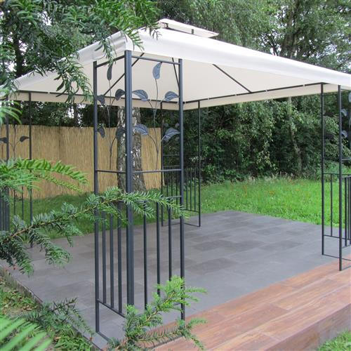 metall pavillon 3x3 m creme partyzelt gartenpavillon festzelt metallpavillon ebay. Black Bedroom Furniture Sets. Home Design Ideas