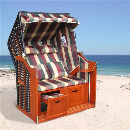 strandkorb garten liege fu st tzen klapptische kissen rot gr n beige karriert ebay. Black Bedroom Furniture Sets. Home Design Ideas