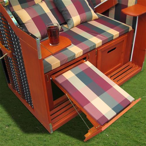 strandkorb garten liege fu st tzen klapptische kissen. Black Bedroom Furniture Sets. Home Design Ideas