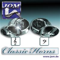Air horn / fanfare, 12V 110 dB, 8,4 cm, 2-tone high and low sound, chrome and certified! universal