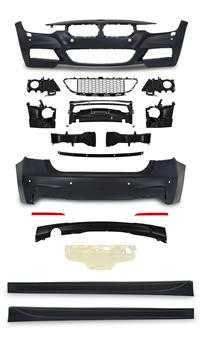Body Kit, BMW F30 LCI (MT), 05/2015-, front/ rear bumper, side skirts, with HCS + PDC, Sport Look passend für BMW 3er, F30, LCI , 05/2015-