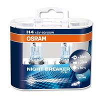 Halogen lamp, Osram Night Breaker Plus, H4 12V/55W