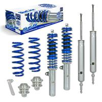 Coilover suspension kit, BlueLine, FA 35-65 / RA 35-55 mm, thread/spring BMW 1er (E81/E87), 04-10