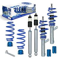 Coilover suspension kit, BlueLine, FA 20-60 / RA 30-75 mm, thread/spring Audi A3 8P Quattro 2.0T/ 2.0TDi/ DSG/ 3.2 � 50/55 mm