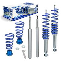 Blueline coilover kit, FA 40-60 / RA 30-55 mm, thread/thread passend für BMW E34 Limo 518i/520i (D14/M14), 7.90-11.95