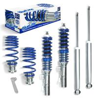 Blueline coilover kit, FA 20-55 / RA 30-50 mm, thread/spring passend für Audi TT 8N Coupé/Roadster 1.8/ 1.8T nicht Quattro, 9.98-06