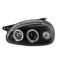 Faruri, Angel eyes design, Opel Corsa B 94-00, clar/negru