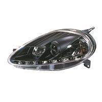 Faruri, DRL design, Fiat Punto 05-09, clar/negru
