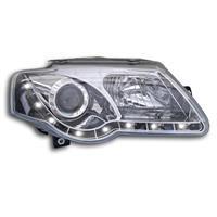 Faruri, DRL design, VW Passat (3C) 05-, clar/crom