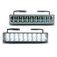 Lumina de zi DRL, 18 Piranha LEDs, crom , functie de oprire