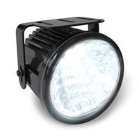 Lumini de zi DRL cu pozities, 12V & 24V, rotund, 1 LED 3 Watt, clar/crom , functie dim, omologare R87/R7, E-marked, ? 70 mm, functie test