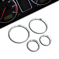 Gauge frames, chrome, for Opel Corsa B, 4 pieces passend für Opel Corsa B