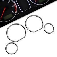 Gauge frames, chrome, for BMW E46 passend für BMW E46