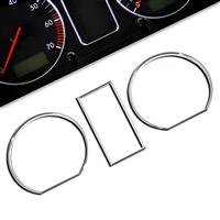 Gauge frames, chrome, for VW Golf 2 passend für VW Golf 2