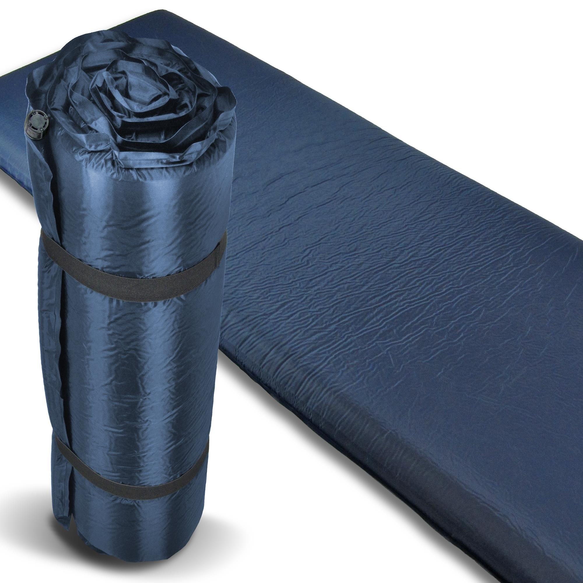 xxl isomatte thermo selbstaufblasend luftmatratze blau 10. Black Bedroom Furniture Sets. Home Design Ideas