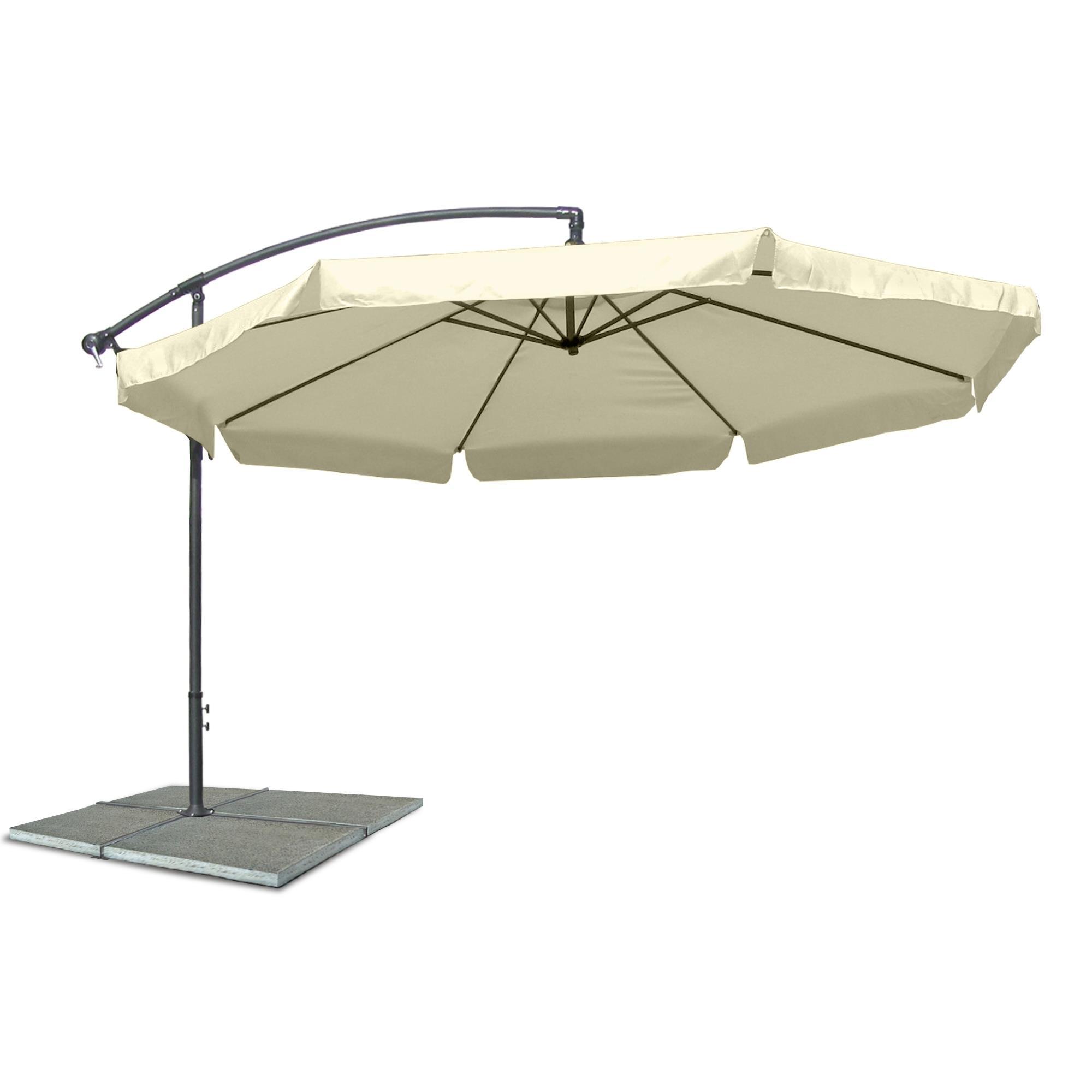3 5m ampelschirm sonnenschirm garten schirm beige mit kurbel kurbelschirm schirm ebay. Black Bedroom Furniture Sets. Home Design Ideas
