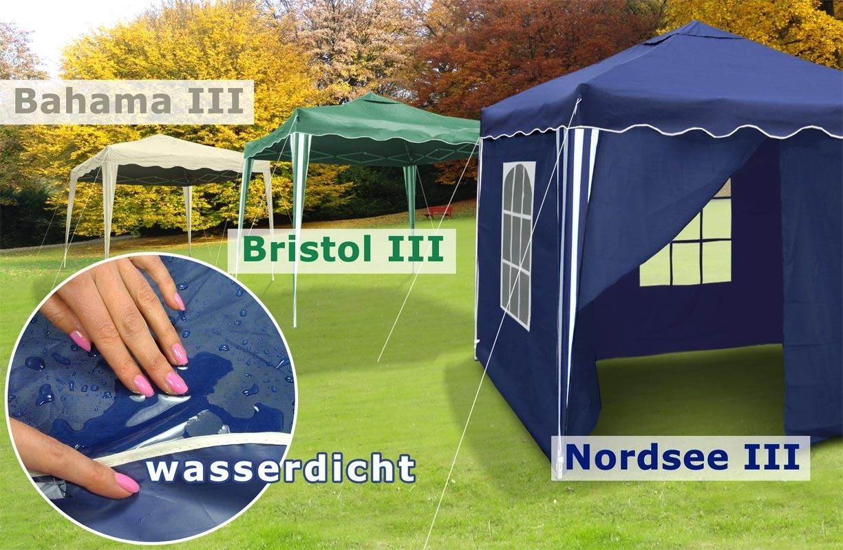 3x3 falt pavillon pvc garten party pavillion zelt blau gr n beige 4 seitenw nde ebay. Black Bedroom Furniture Sets. Home Design Ideas