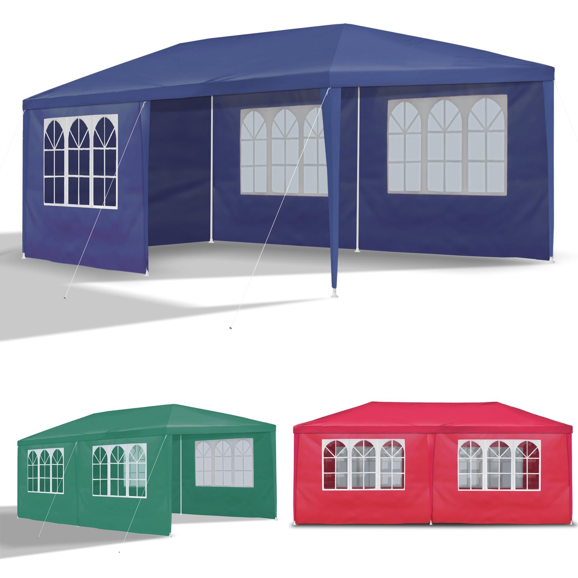 3x6m party zelt garten pavillion pavillon gr n mit seitenw nde wasserdicht ebay. Black Bedroom Furniture Sets. Home Design Ideas