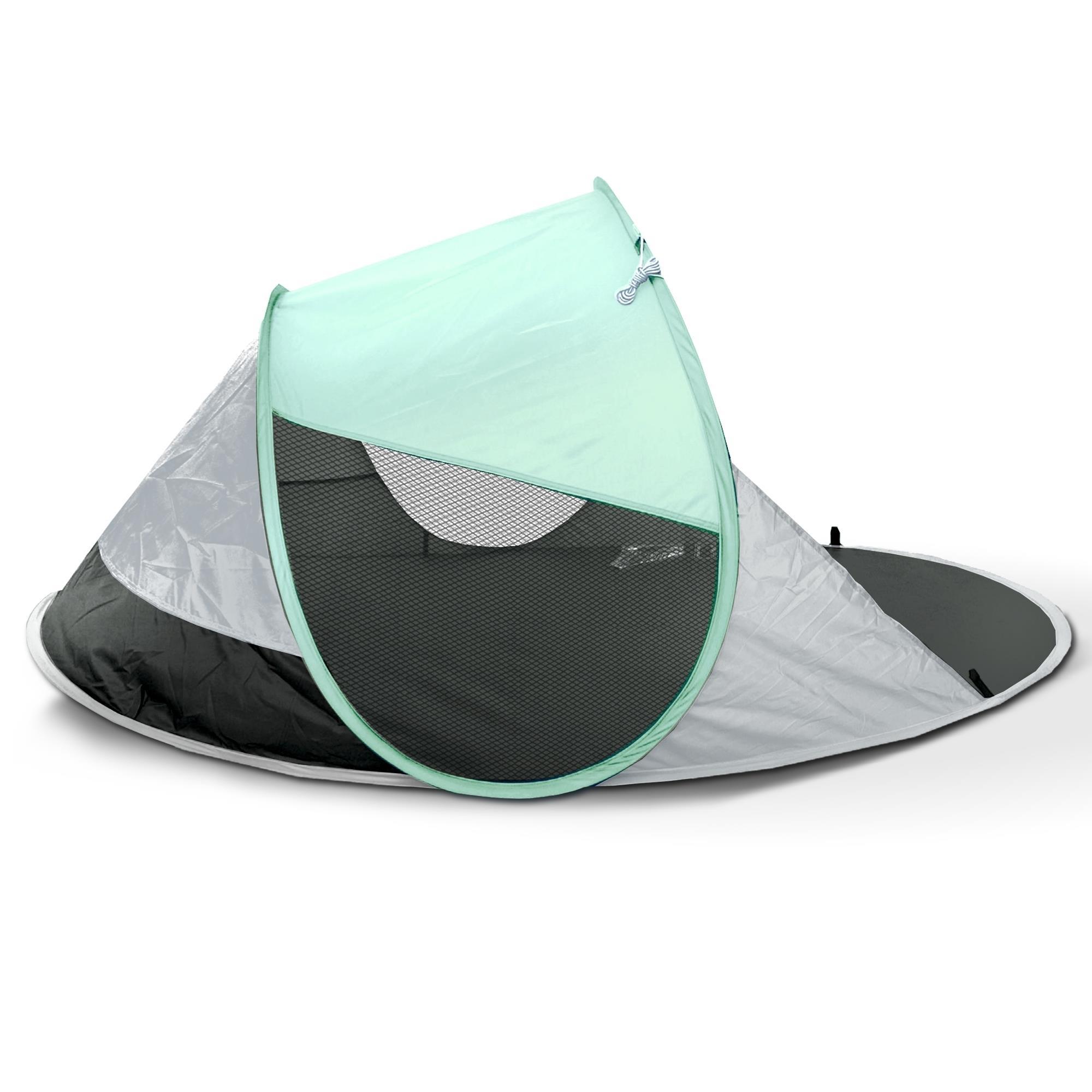 pop up strandmuschel wurfzelt zelt strandzelt sonnenschutz windschutz uv 40 ebay. Black Bedroom Furniture Sets. Home Design Ideas