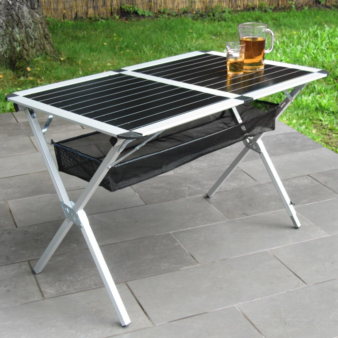 table aluminium pliante. Black Bedroom Furniture Sets. Home Design Ideas