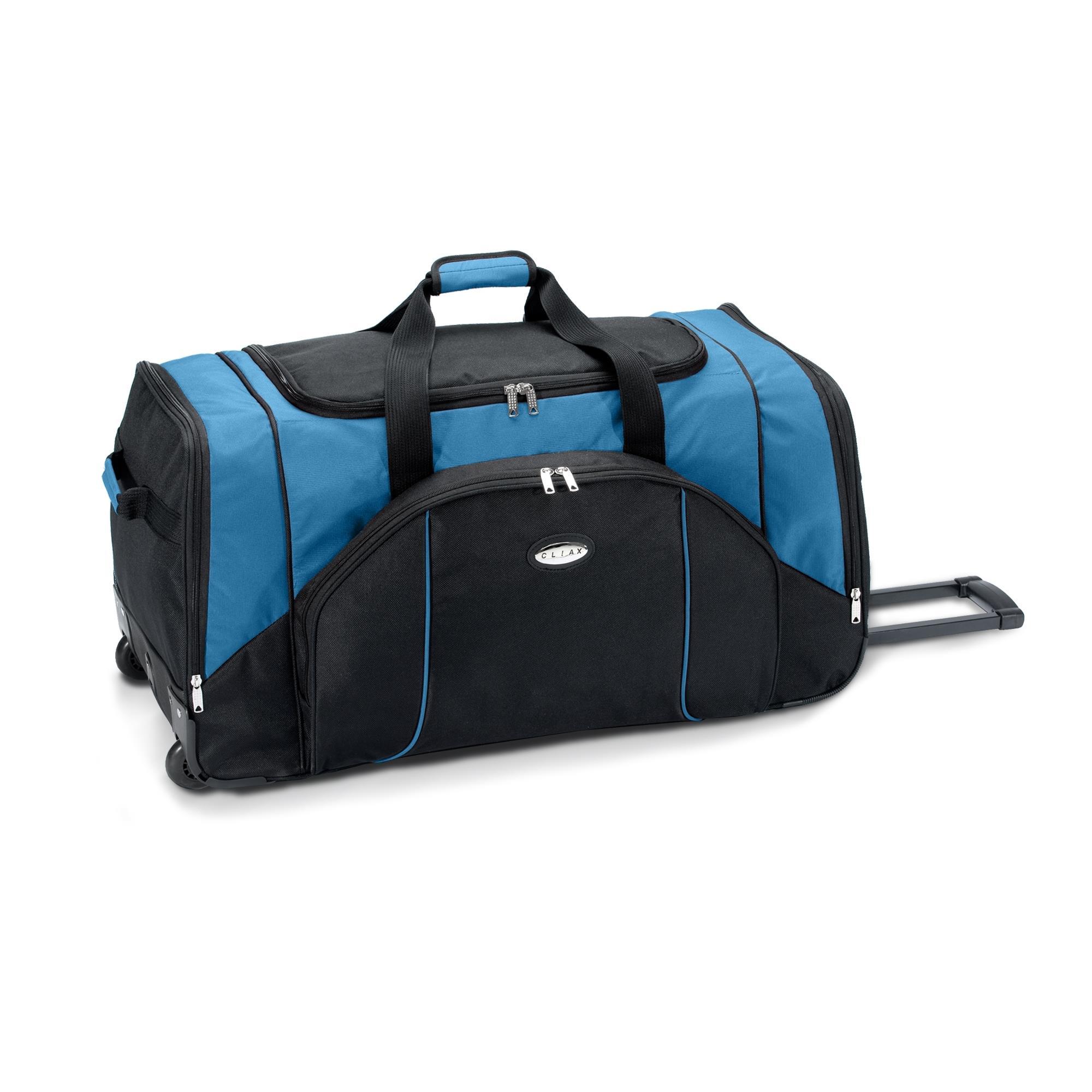 reisetasche trolley koffer mit rollen sporttasche 130l o 95l blau gr n rot grau ebay. Black Bedroom Furniture Sets. Home Design Ideas