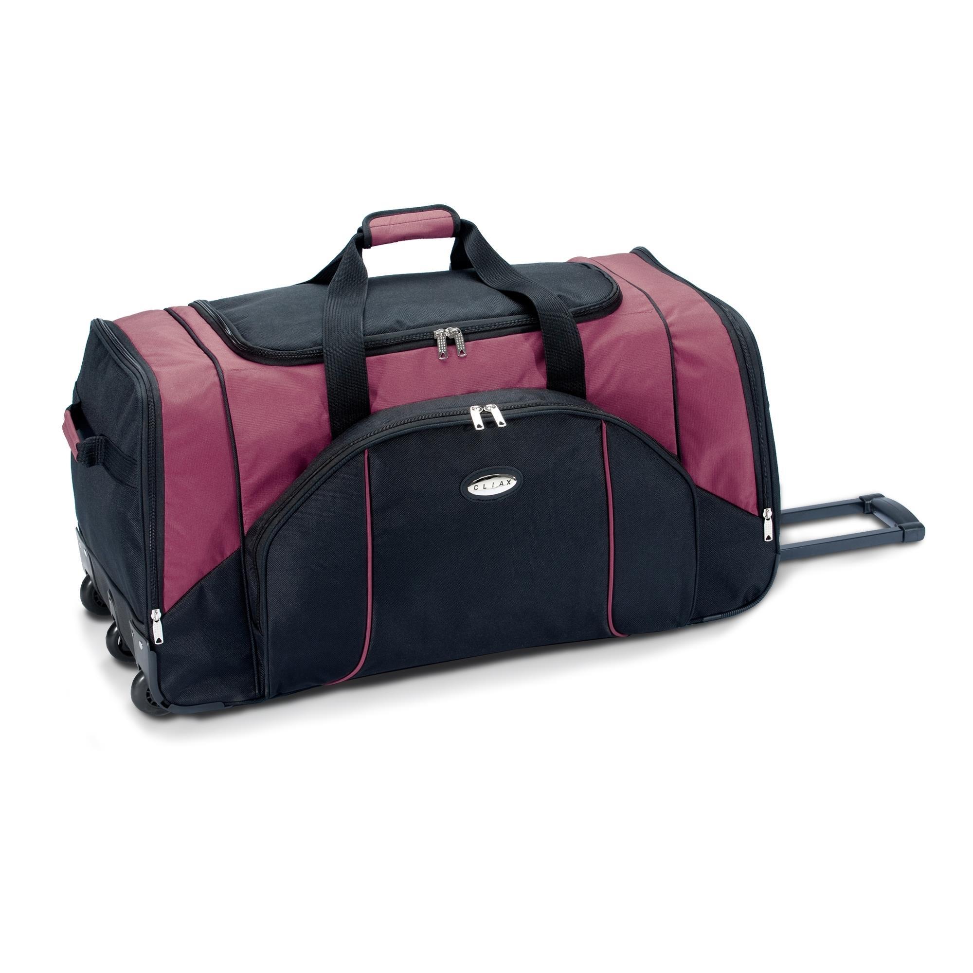 sporttasche reisetasche mit rollen trolley koffer 95l 130l gr n rot blau grau ebay. Black Bedroom Furniture Sets. Home Design Ideas