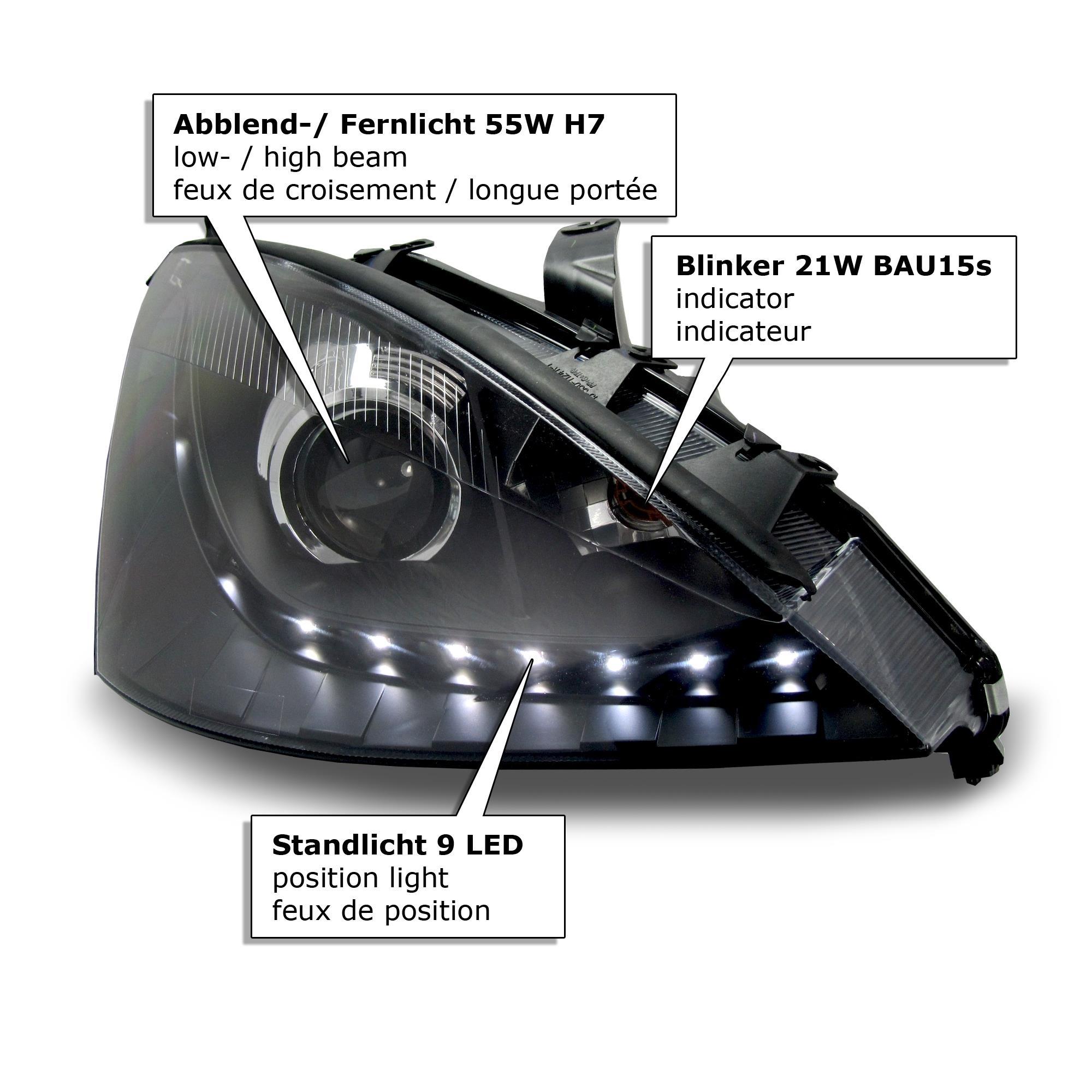 front scheinwerfer ford focus 1 01 04 facelift. Black Bedroom Furniture Sets. Home Design Ideas