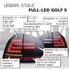 Feux arrière à LED, UrbanStyle, VW Golf 5 03-08, noir