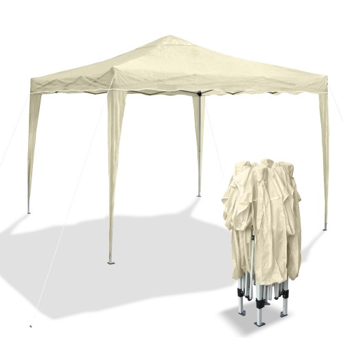 Pop Up Gazebo, Garden pavilion Bahama I, pop-up pavilion 3 x 3 m, beige, waterproof Oxford 200D fabric, bag inclusive