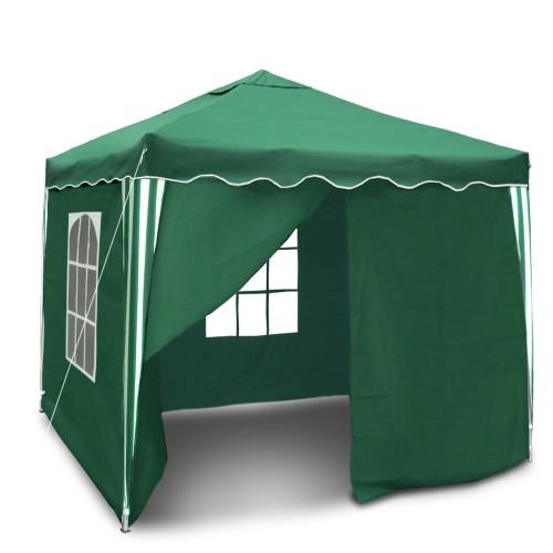Gartenpavillon, Wasserdicht,  Falt-Pavillon Bristol , mit Extra Beschichtung, mit Seitenwänden und Tasche, 3 x 3 m, Grün