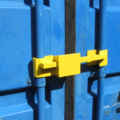 Container Lorry Trailer Lock, High Security Hardened Steel Door Lock with Security Graded Padlock and 4 Keys color yellow