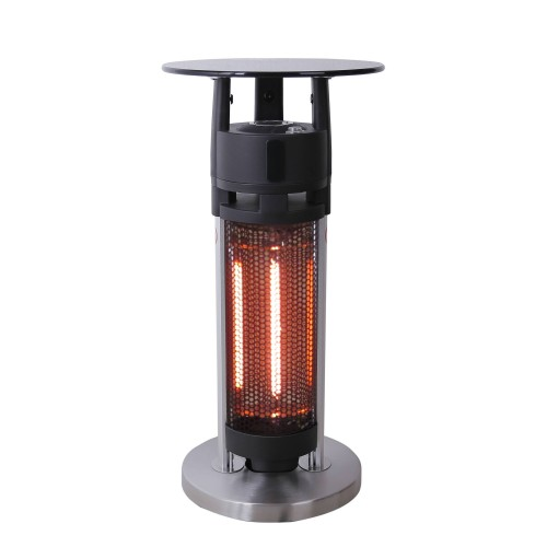 Heater patio heater table Infrared heater Height 65 cm 1200 Watt suitable for outdoors IP44