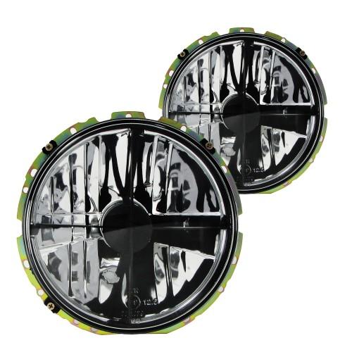 Scheinwerfer,H4 mit Fadenkreuz Klarglas / schwarz passend für VW Golf 1
