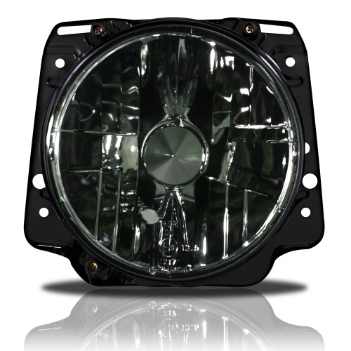 Headlights clear black glass suitable for VW Golf 2