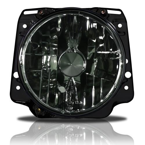 Scheinwerfer, H4, klar, verstärkt schwarz passend für VW Golf 2