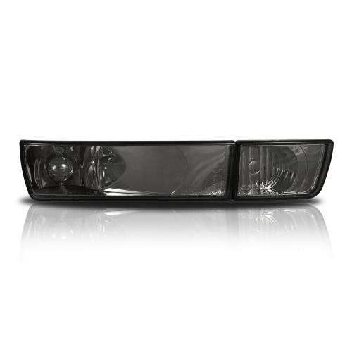 Blinker, Umrüstsatz, ohne Nebelscheinwerfer, Klarglas / schwarz passend für VW GOLF 3