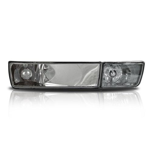 Indicators, fog lights, VW Golf 3, clear/chrome