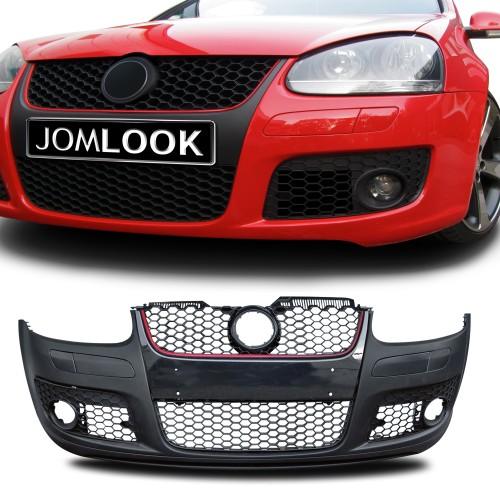 Frontstoßstange im Sport-Design inkl. Waben-Kühlergrill passend für VW Golf 5