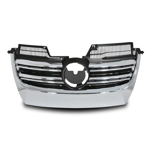Kühlergrill mit Doppelrippe, Schwarz/Chrom passend für VW Golf 5