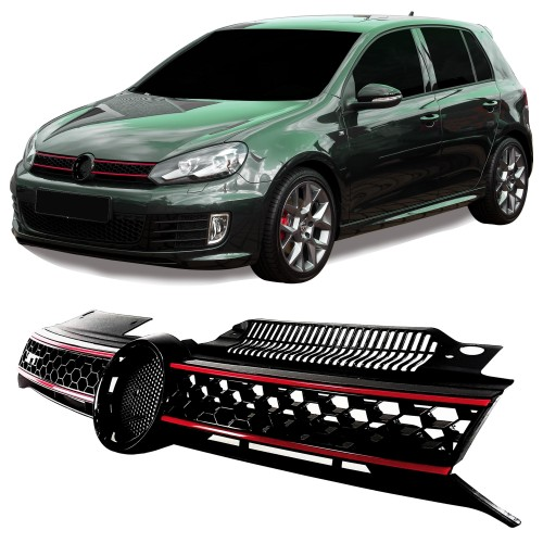 Front Grill VW Golf MK6 GTI ( 2008 - ), with slot for the badge  honey comb suitable for VW Golf MK6 GTI 2008 - 2012