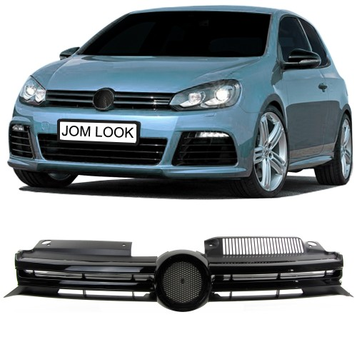 Front Grill VW Golf MK6 (2008-2012), with slot for the badge suitable for VW Golf 6 (2008-2012)Type 1KSedan/ Station Wagon / convertible