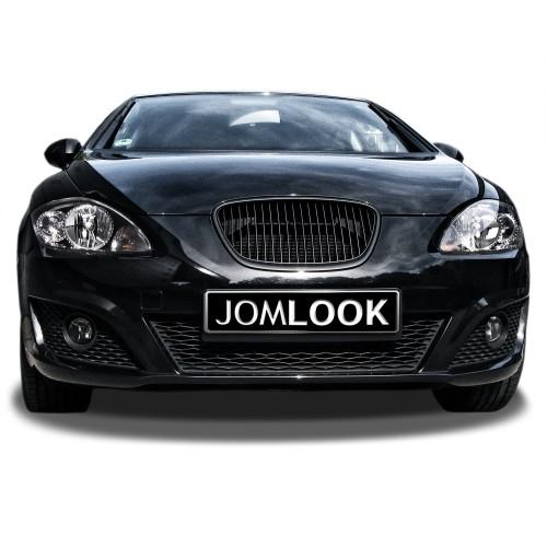 Kühlergrill ohne Emblem, schwarz passend für Seat Leon 1P Baujahr 2009 - 2012 und Altea 5P ab Baujahr 2009 -