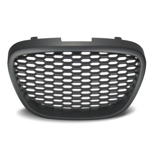Front Grill badgless with honey comb mesh suitable for Seat Leon 1P year 2005 - 2009 and Altea 5P year 2004 - 2009