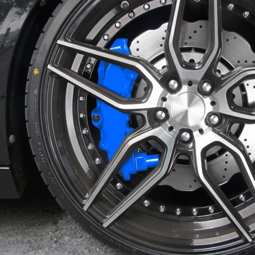 Bremssattellack, Bremssattel Lackier- Set, blau, 1K-System, Bremssattellack 75ml, Bremsenreiniger 250ml, Pinsel und Handschuhe