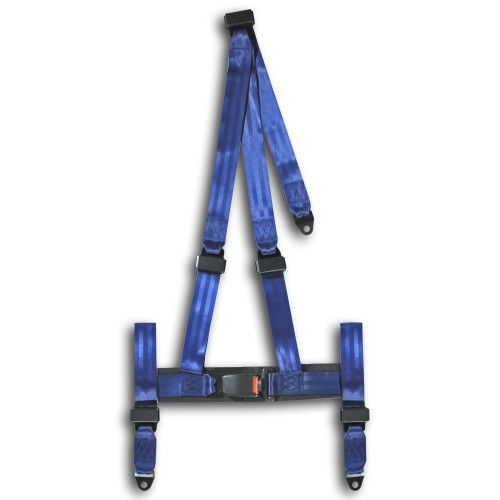 Harness, 3 point, blue, E-marked