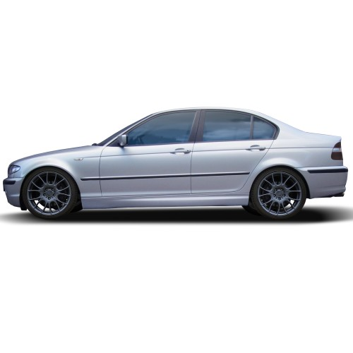 Seitenschweller, ABS, 1 Satz rechts + links, mit ABE passend für BMW E46 3er, 1998–2007, Limo, Touring, Cabrio und Compact